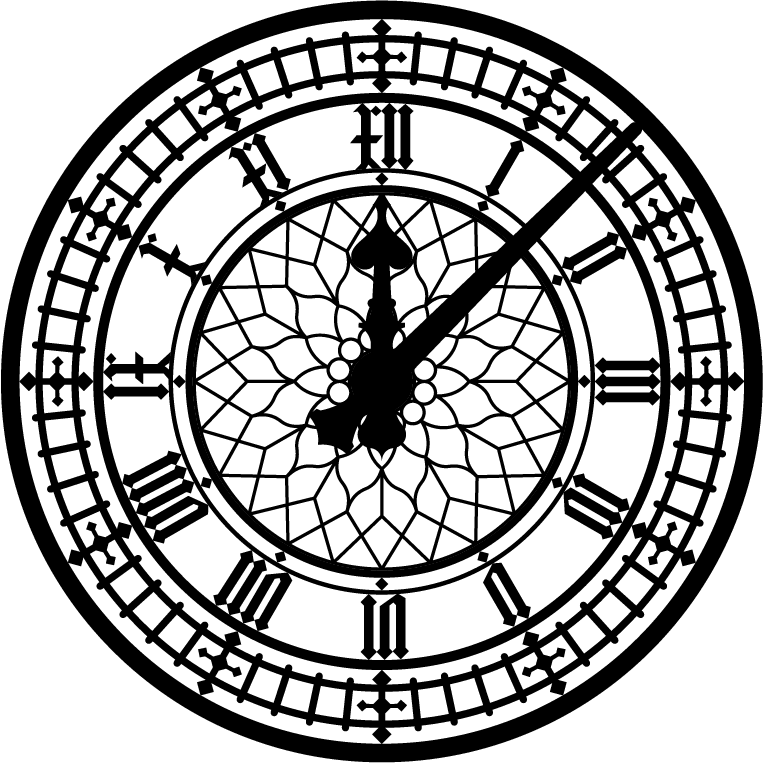 Line Drawing Clock Face : Image clock face clipart best