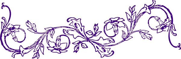 Flower Frame Line Drawing : Purple borders and frames clipart best