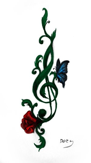 treble clef tattoo pictures clipart best. Black Bedroom Furniture Sets. Home Design Ideas
