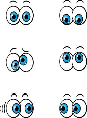 Cartoon Eyes Looking Down - ClipArt Best