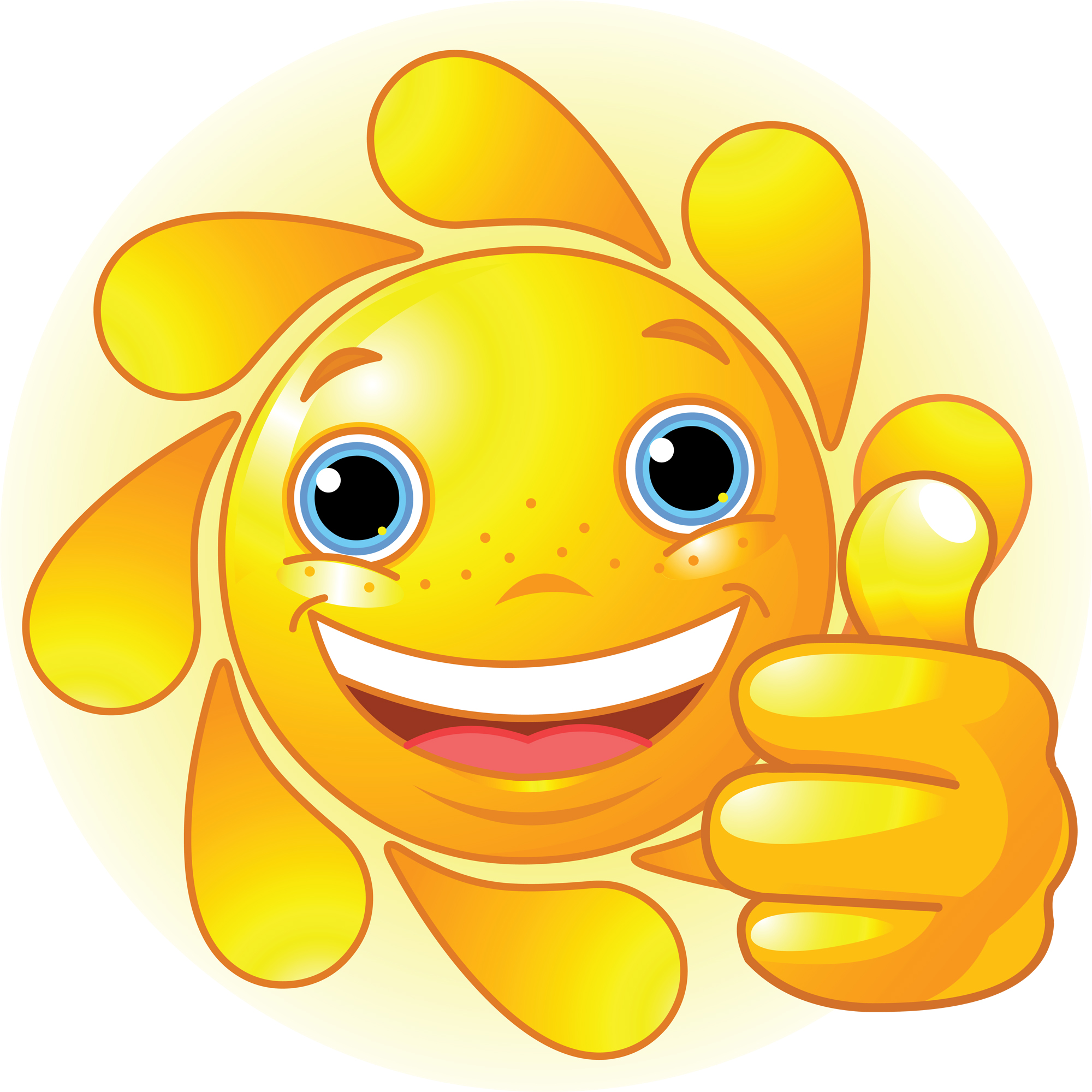 Smiley Sun Clip Art at Clker.com vector clip art online, royalty ...