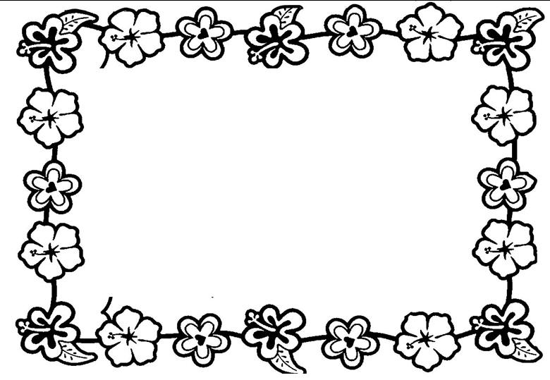 coloring pages flower borders - photo#2