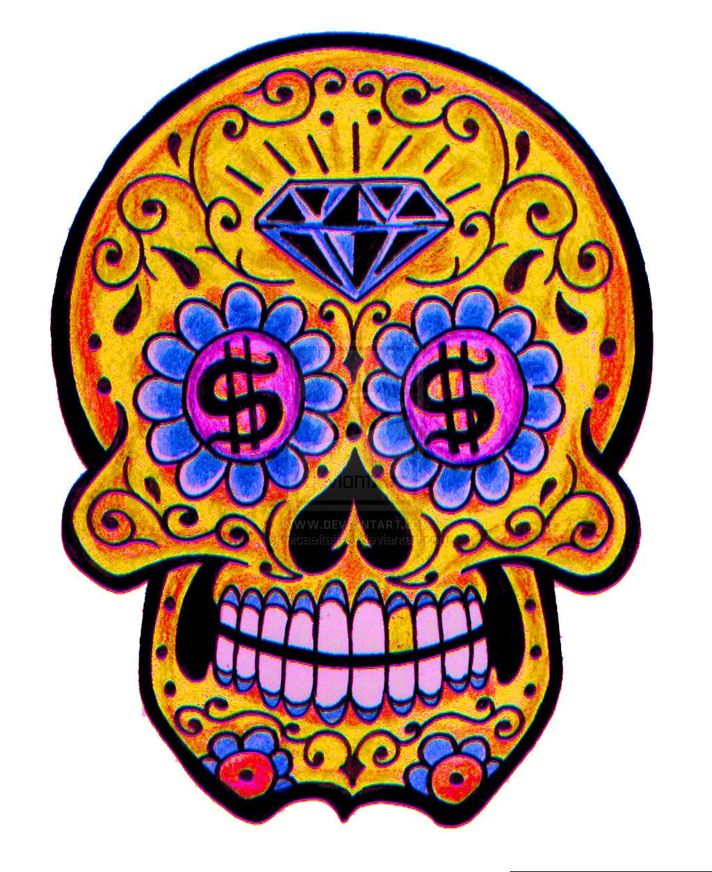 Skull tattoo designs simple tattoo designs skull clipart best - Sugar Skull By Micaeltattoo Designs Interfaces Tattoo