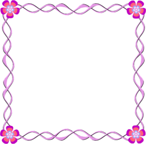 border clip art pink flower . Free cliparts that you can download to ...