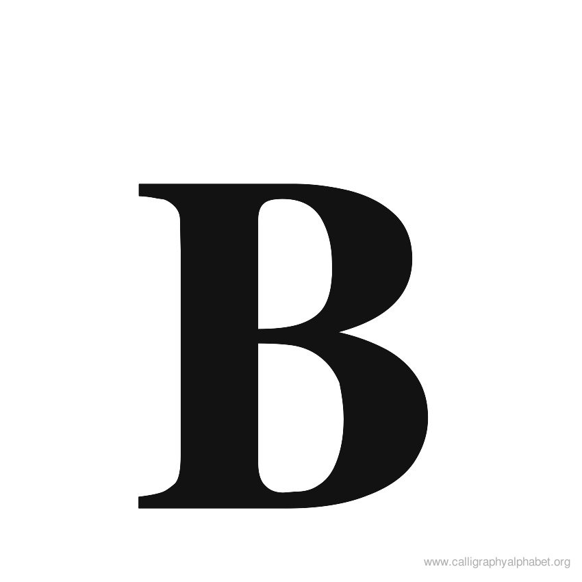 Calligraphic Letter B Clipart Best