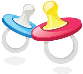 baby pacifiers clipart best