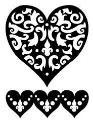 Filigree Heart Clip Art - ClipArt Best