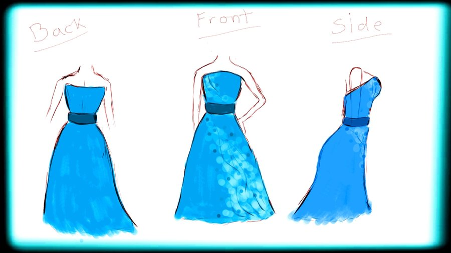prom dress drawings clipart best
