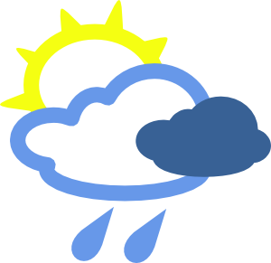 Sun And Rain Weather Symbols clip art - vector clip art online ...