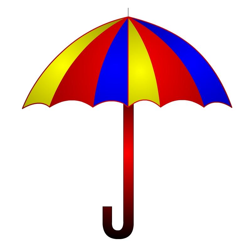 rainbow umbrella clip art - photo #35