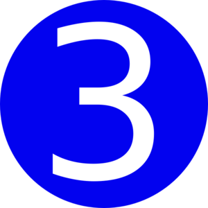 Blue rounded with number 3 clip art vector clip art online
