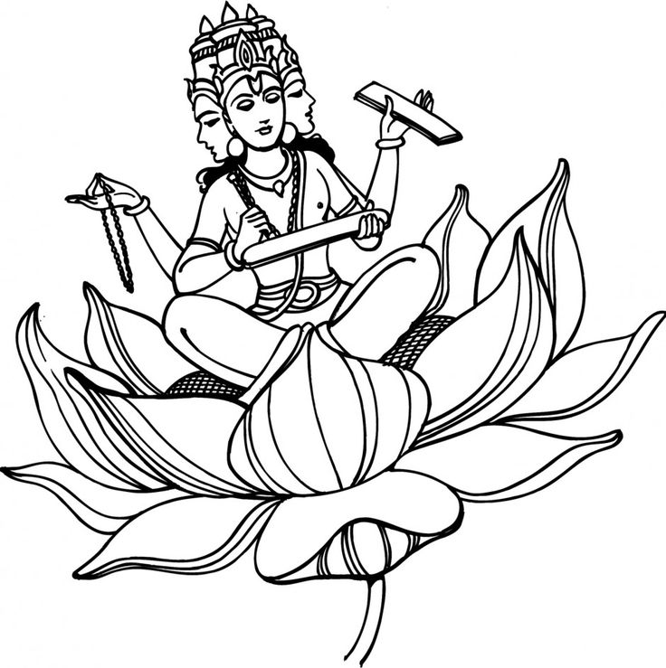 hindu gods printable coloring pages - photo#13