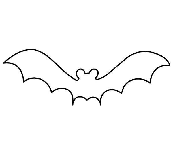 Cartoon Bat Outlines