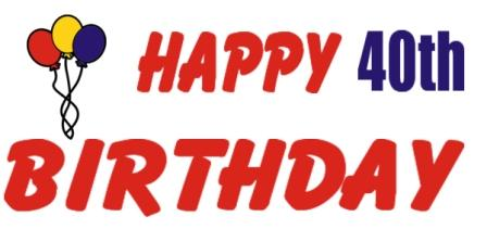 Free 40th Birthday Clipart - ClipArt Best