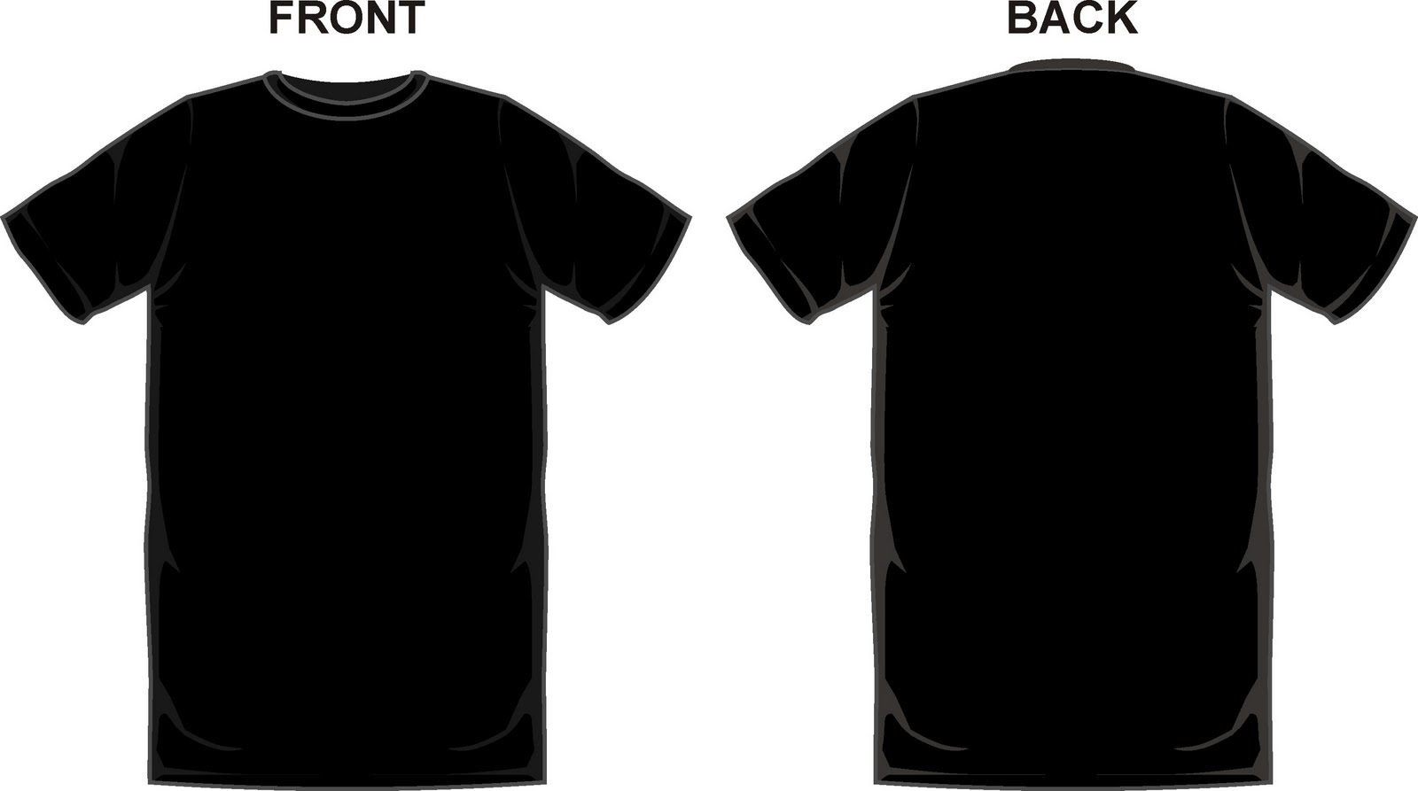 Shirt Front And Back Template | Clipart and Vector Collection