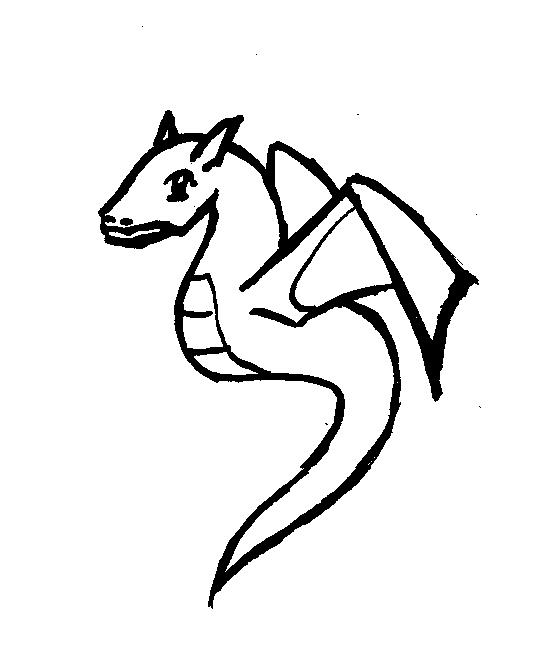 Easy To Draw Dragon Tattoo Designs