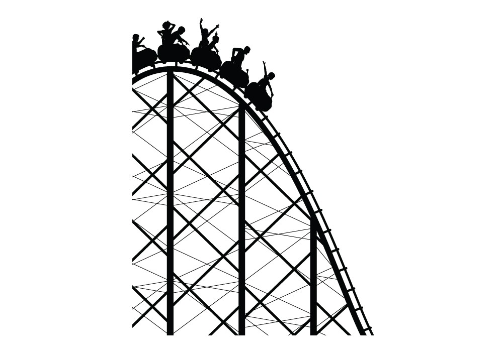 Rollercoaster Drawing - ClipArt Best