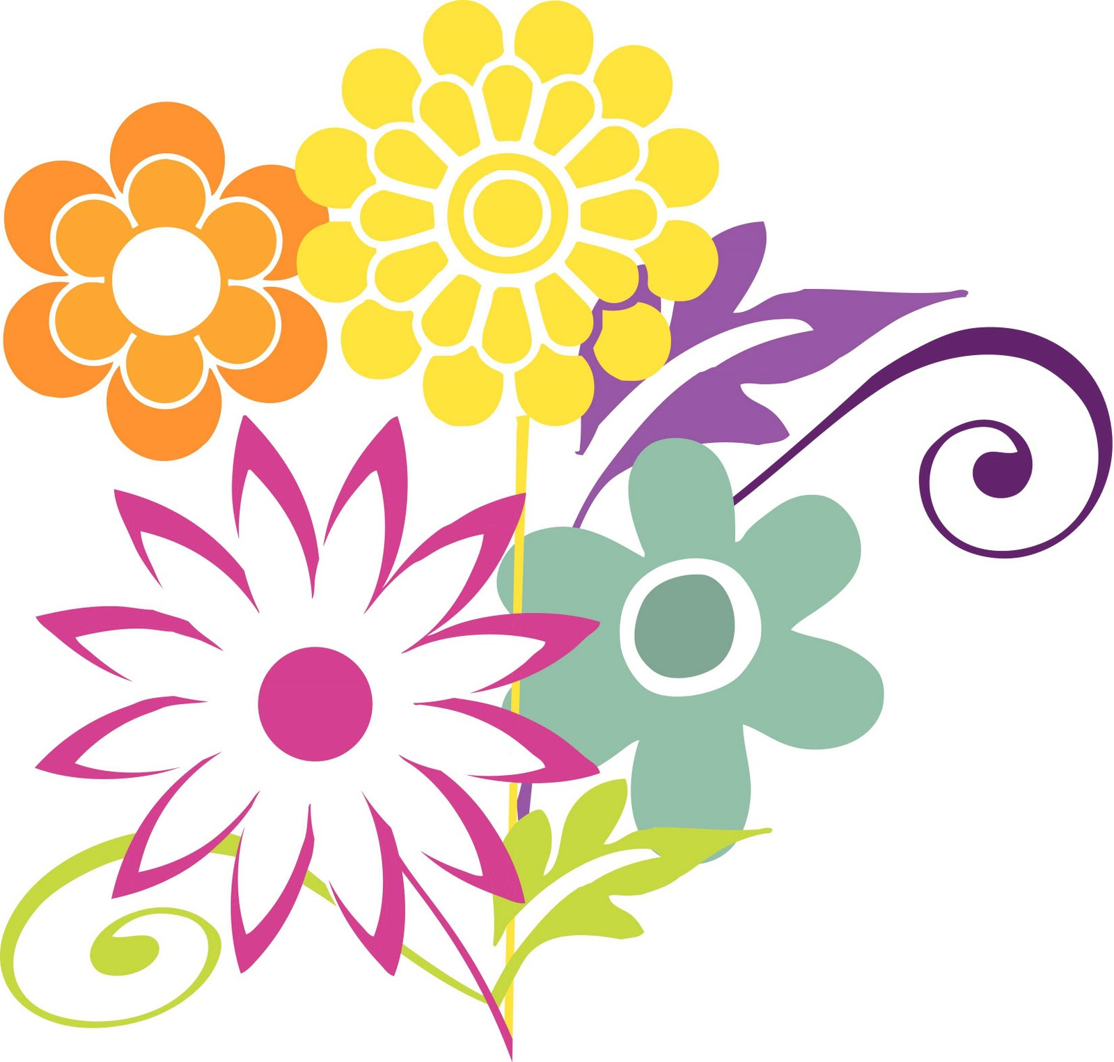 free spring flower bouquet clipart - photo #47