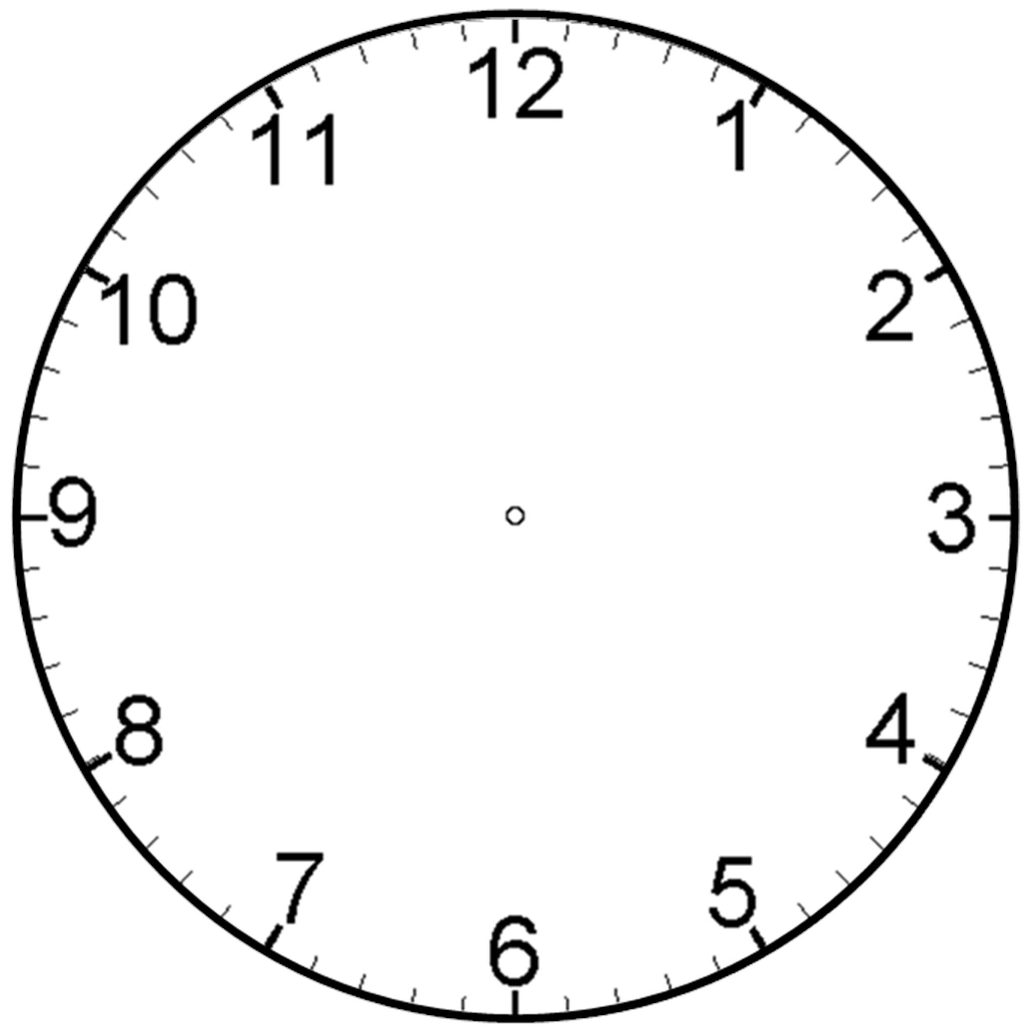 Clock With Minutes - ClipArt Best
