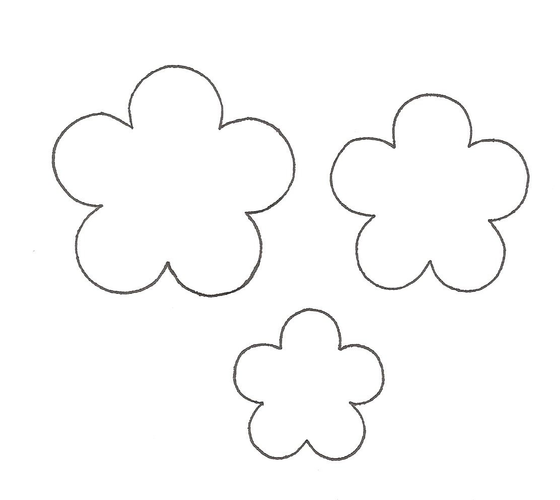 Paper flower template clipart best for Paper flower template free