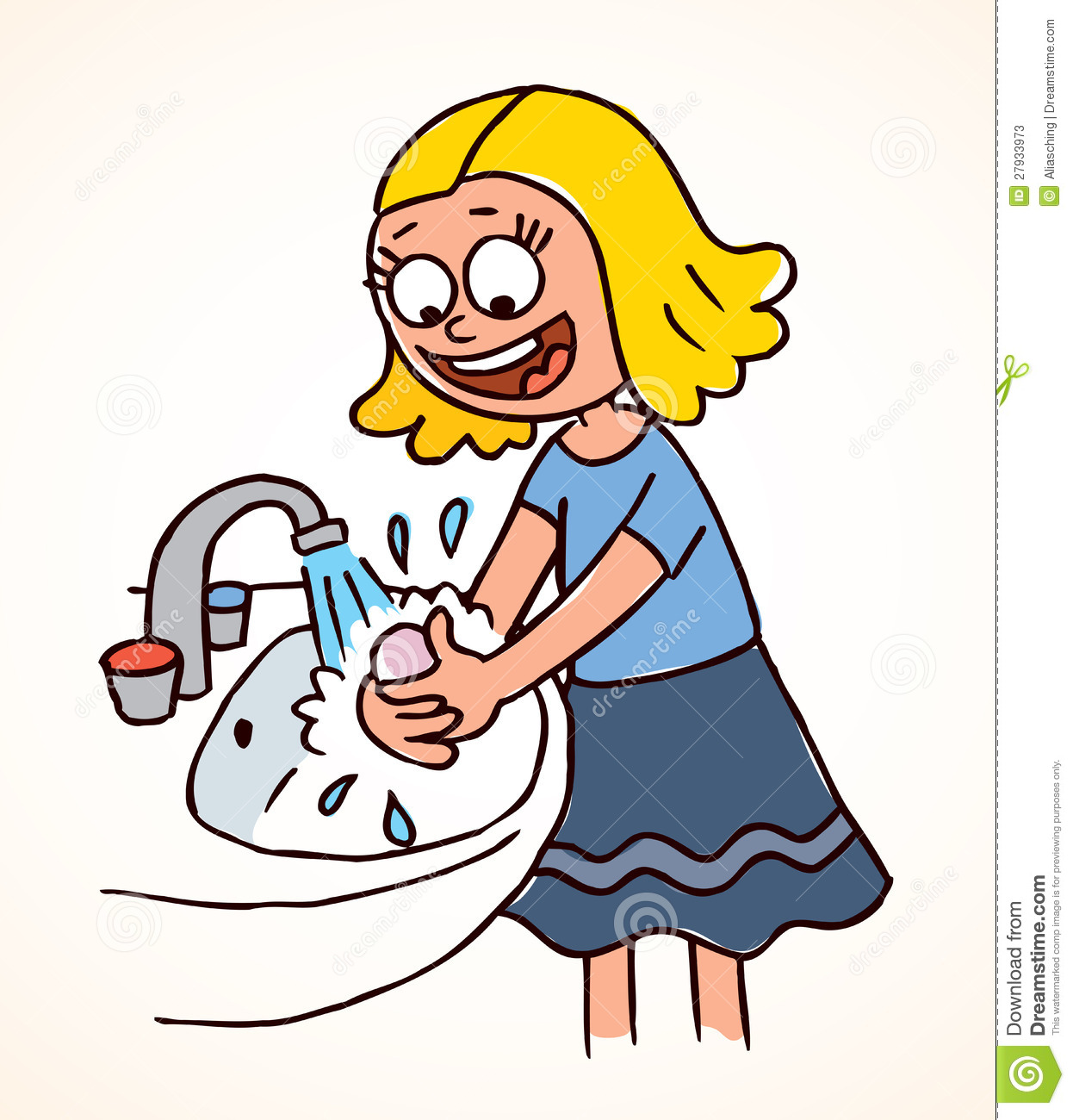Children Washing Hands Clipart - ClipArt Best