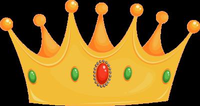 Blue king crown png