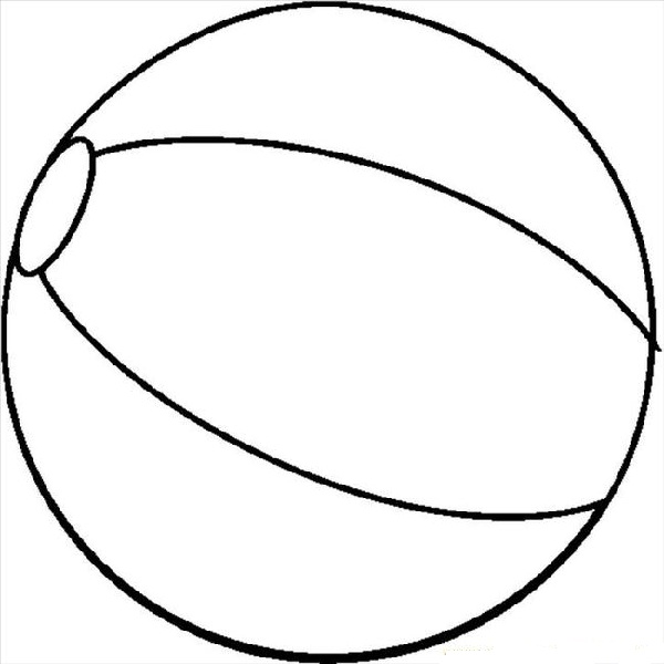 Colouring Page Of A Ball - ClipArt Best