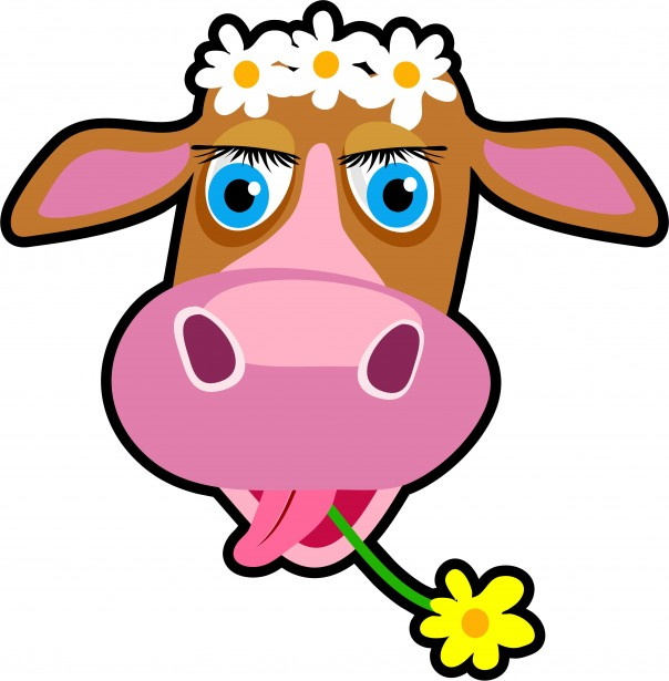 Cartoon Cow Clipart Free Stock Photo - Public Domain Pictures