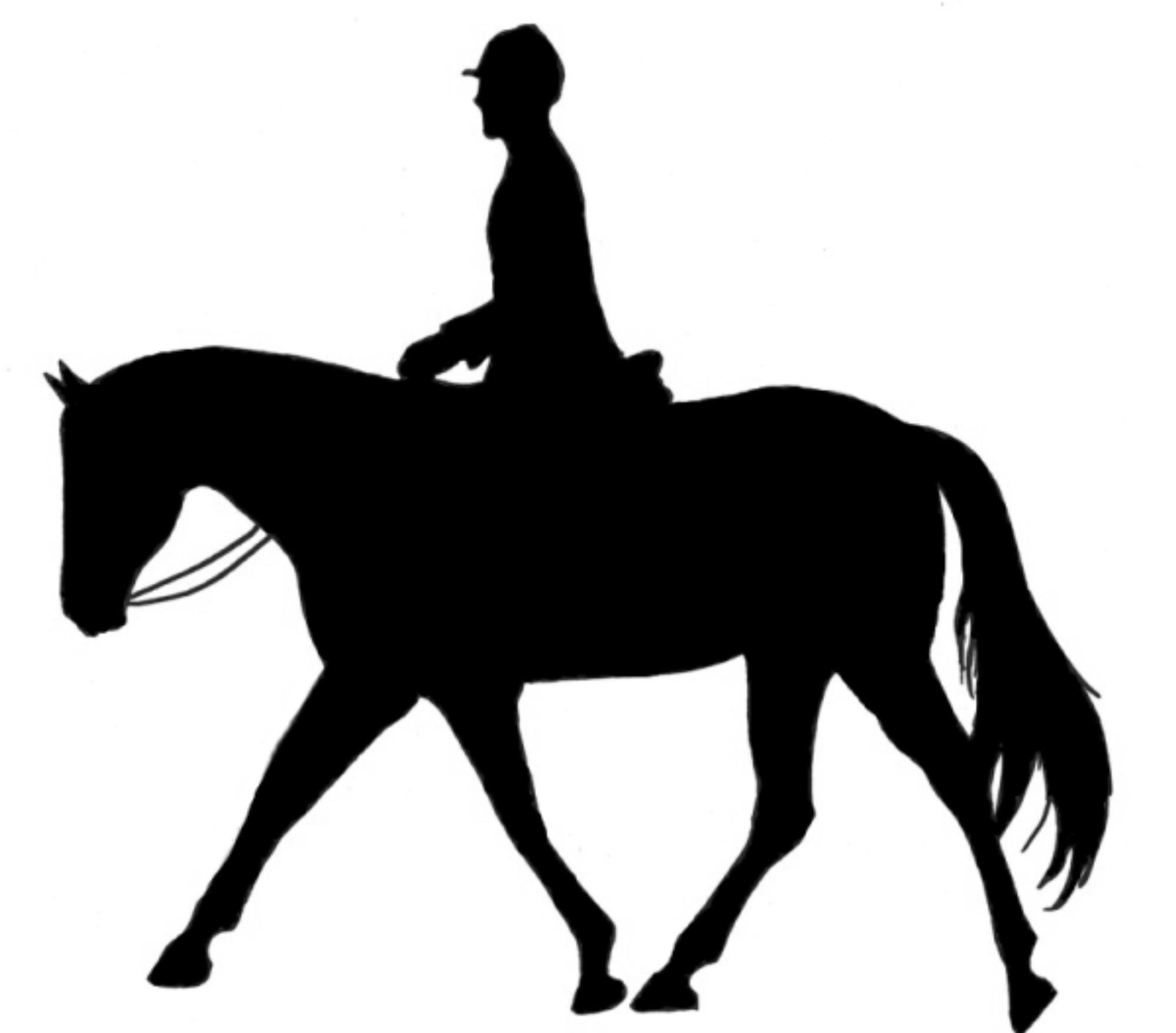 clip art girl riding horse - photo #24