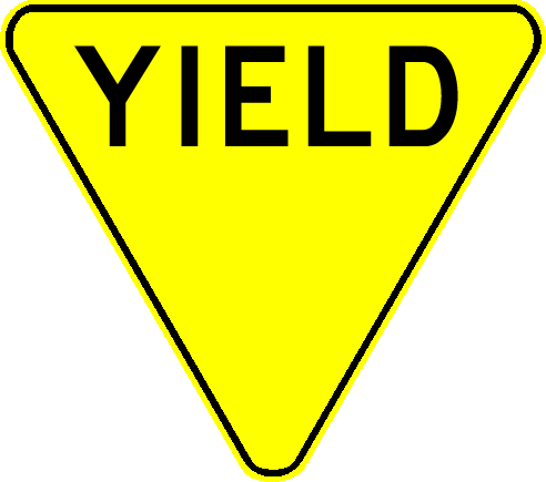 Yellow Yield Sign Clip Art Picture of a yield sign