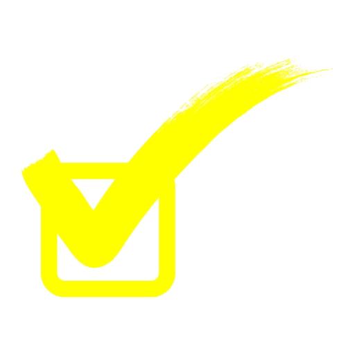 Yellow check mark 2 icon - Free yellow check mark icons
