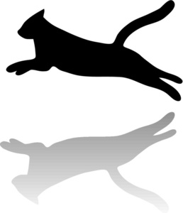 Cat Jumping Clipart