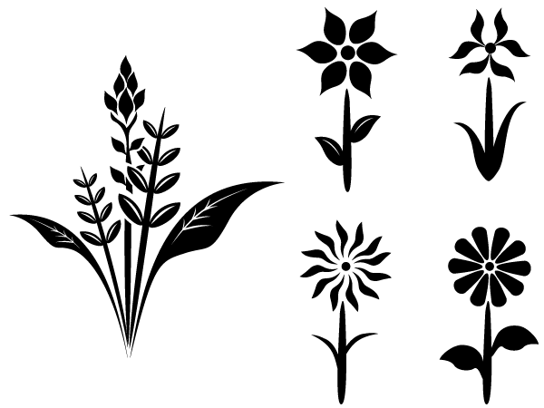 Flower Silhouette Clip Art - ClipArt Best