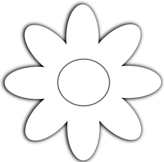 Line Art Flowers Vector : Daisy flower black white line art scalable vector
