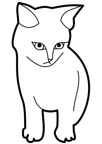 Kitty Clipart Black And White - ClipArt Best