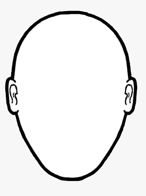 Blank human face outline - photo#21