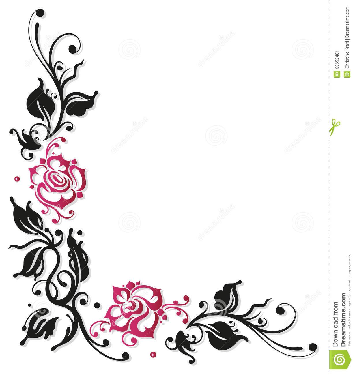 Rose Flower Border - ClipArt Best