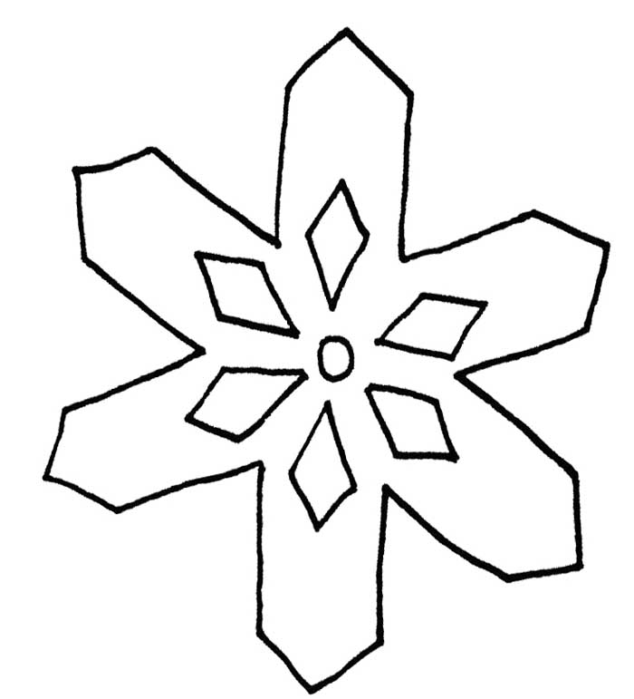 Simple Snowflake Line Art : Snowflake template clipart best