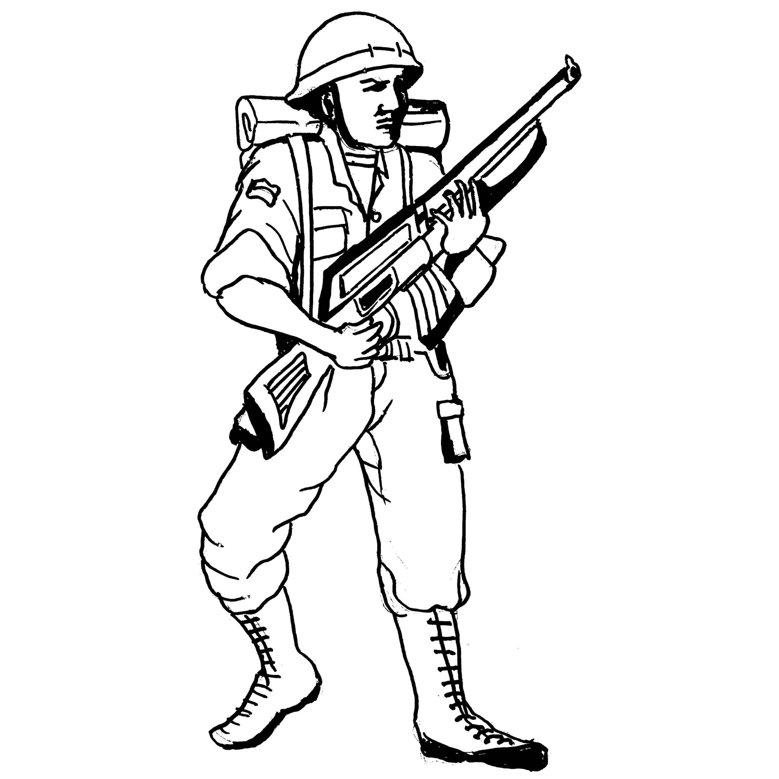 thompson machine gun coloring pages - photo#29