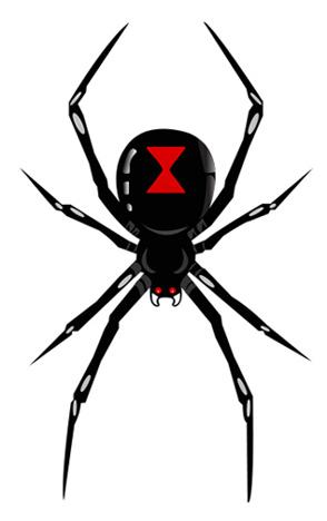 Black Widow Logo - ClipArt Best