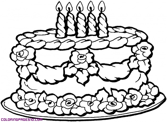 Simple Drawings Of Birthday Cakes - Drawing