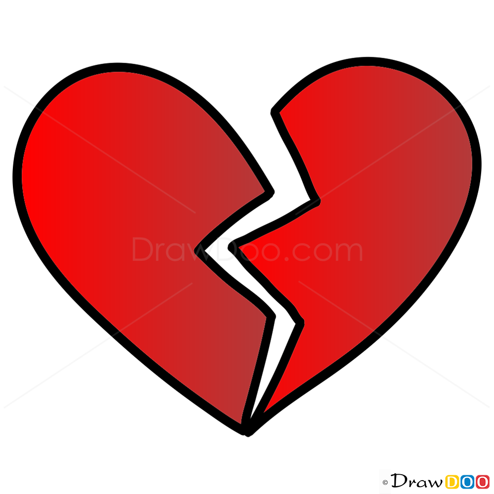 How to Draw a Broken Heart 9 Steps with Pictures  wikiHow