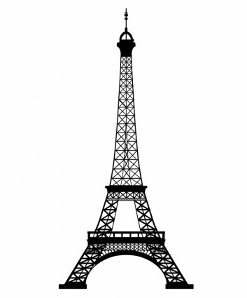 Best Photos of Black And White Eiffel Tower Outline - Black and ...