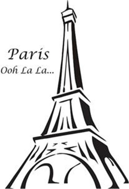 Line Drawing Eiffel Tower : Eiffel tower template drawing clipart best