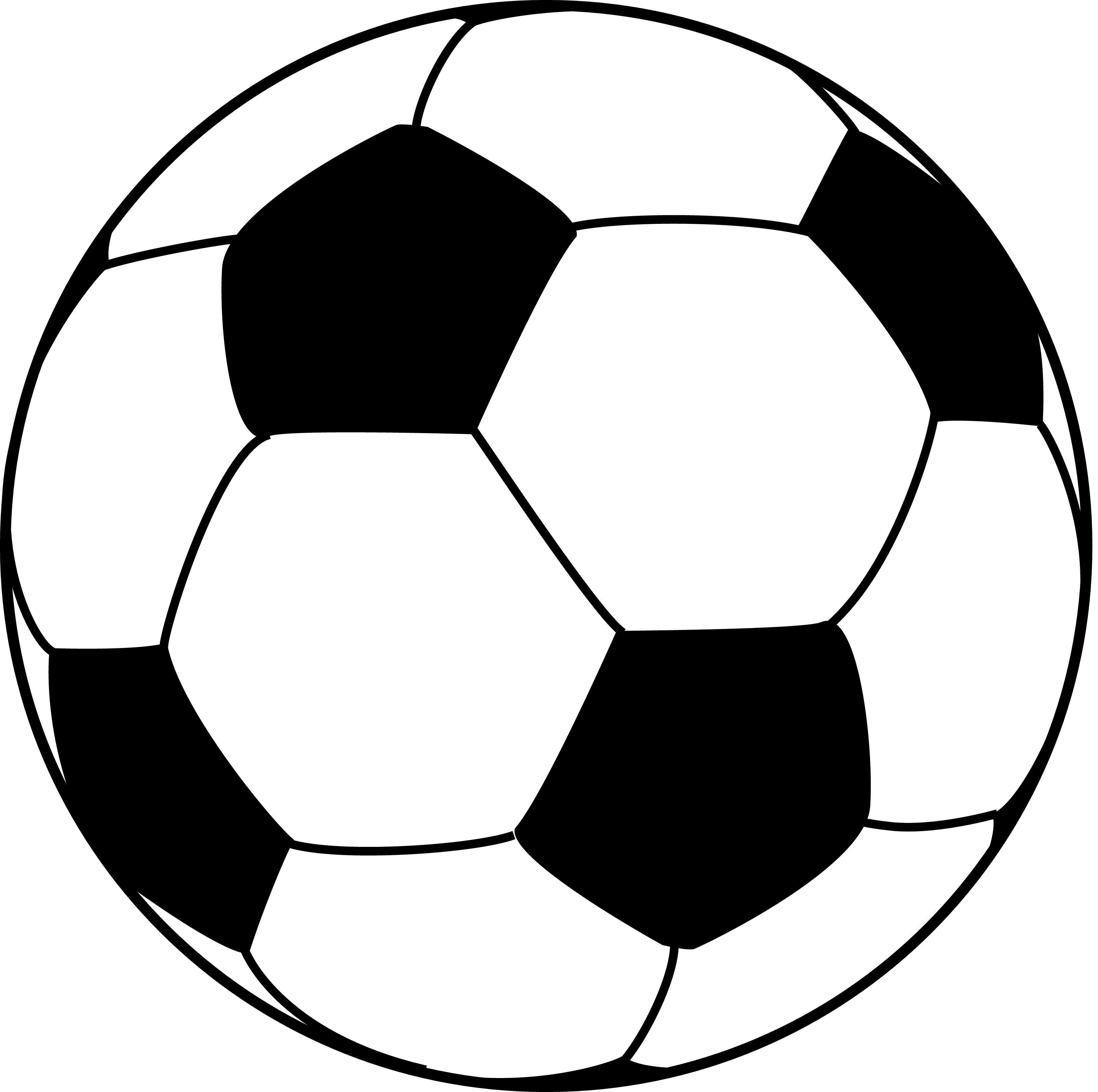 Exceptional image regarding printable soccer ball template