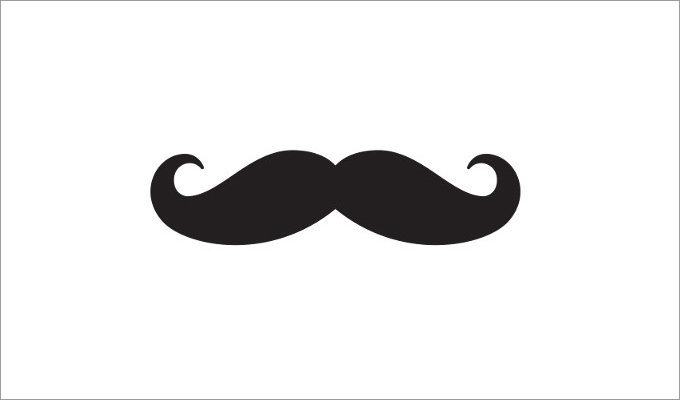 Delicate image for free printable mustache