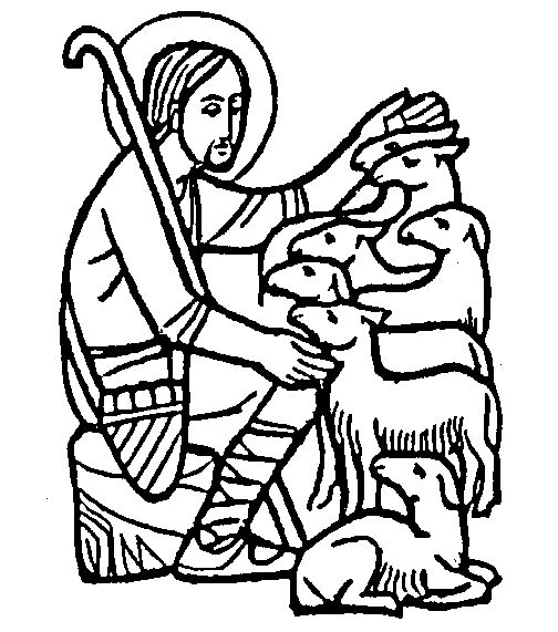 Good Shepherd Line Drawing