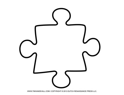 Puzzle Piece Template | Puzzle Of ...