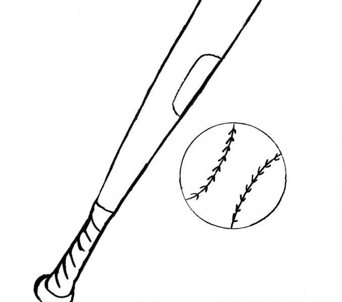 baseball bat coloring page - baseball bat coloring page clipart best