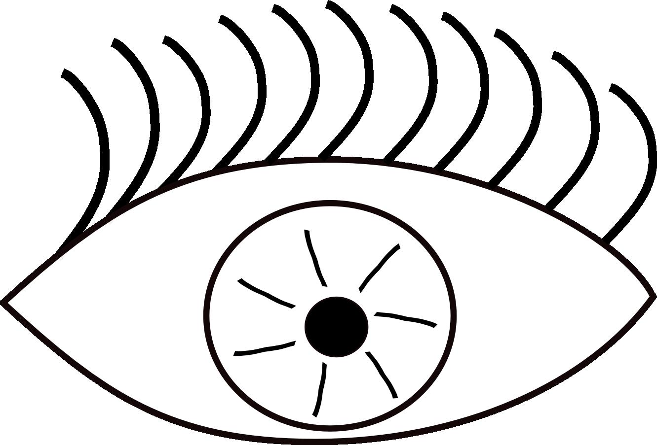 A Black And White Cartoon Eye ClipArt Best